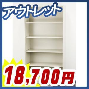 オープン書庫 5段 可動棚 アジャスターなしタイプ オフィス ファイル収納 書棚 アウトレット 4SR-18N|tanimachi008