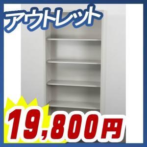 オープン書庫 5段 スチール書庫 書棚 収納庫 A4対応 保管庫 オープンタイプ スチール書庫 未使用 中古書庫 アウトレット SH-K370F1C|tanimachi008