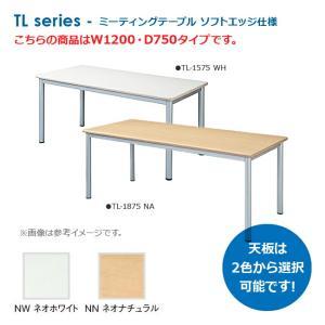 ミーティングテーブル ワークテーブル W1200×D750タイプ ソフトエッジ仕様 新品【送料無料】 井上金庫製:TLシリーズ TL-1275|tanimachi008