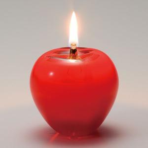 オイルランプ 津軽赤りんご:北洋硝子・津軽びいどろ|tanken