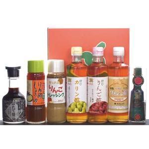 カネショウのバラエティセットA(7種入り):りんご酢・カリン酢・ドレッシング・ほたて醤油|tanken