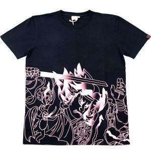 蓄光ねぶたTシャツ 狒々退治・手塚茂樹:甲州屋 :ねぶたグッズ|tanken