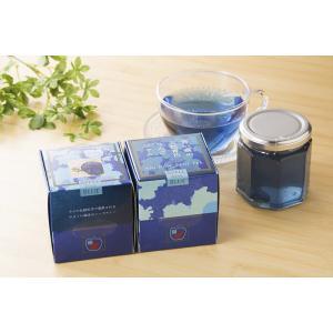 青い森の天然青色ギフトセット(ジャム170g、お茶8g):天然青色色素アンチャン・青いジャム・青いお茶・JT&Associates tanken