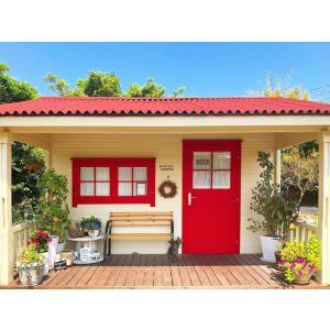 ●ロマーニ(人気の3坪サイズ)スチール・プレハブにはない木の魅力、大屋根と広いベランダの格安なセルフビルド推奨ミニログハウスキット。DIYに最適!|tanoclife