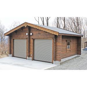 ●タリーB(ログ厚75mm)2台用ガレージ、納屋、倉庫に最適...