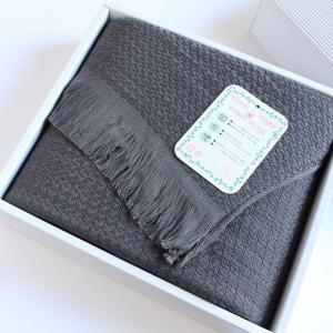 今治タオル タオル ストール なみ ギフトセット Imabari Towel Towel Stole Nami GiftSet グレー|tanokichi