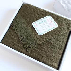 今治タオル タオル ストール なみ ギフトセット Imabari Towel Towel Stole Nami GiftSet ダークグリーン|tanokichi