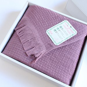 今治タオル タオル ストール なみ ギフトセット Imabari Towel Towel Stole Nami GiftSet ライトパープル|tanokichi