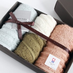 今治タオル コンテックス プラスカラー ギフトセット Imabari Towel Kontex Plus Color GiftSet フェイスタオル2枚xゲストタオル2枚 tanokichi
