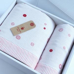 今治タオル ふんわり4重ガーゼ ギフトセット Imabari Towel Funwari Gauze GiftSet バスタオル1枚xフェイスタオル1枚|tanokichi