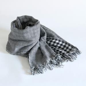 今治タオル コットンマフラー Imabari Towel Cotton Muffler Care カレ ブラック tanokichi