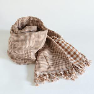 今治タオル コットンマフラー Imabari Towel Cotton Muffler Care カレ ブラウン tanokichi