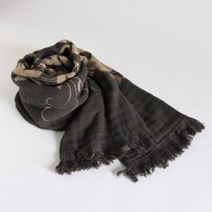 今治タオル コットンマフラー Imabari Towel Cotton Muffler Hana 華 ブラック tanokichi