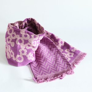今治タオル コットンマフラー Imabari Towel Cotton Muffler Hana Asobi 花あそび パープル tanokichi