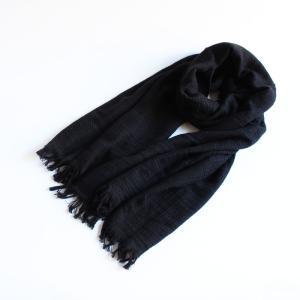 今治タオル タオル ストール なみ Imabari Towel Towel Stole Nami ブラック|tanokichi
