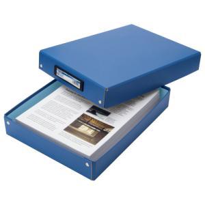 TANOSEE デスクトレー A4 青 1個
