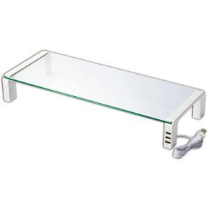 キングジム デスクボード USBハブ付 W550×D230×H80mm 天板:透明無色 脚:ホワイト THDBU−20W 1台|tanomail