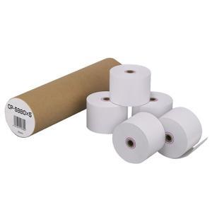 カシオ 電子レジスター用 ロールペーパー 紙幅58mm 240ER専用 CP−5880X5 1パック(5個)|tanomail