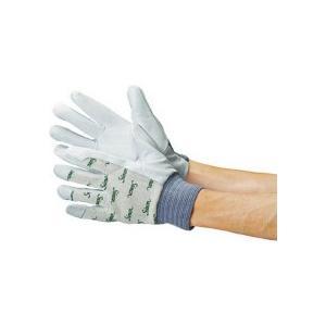 シモン 牛本革手袋 甲メリヤス袖口ゴムタック 127白 M寸 126W−M 1双 (メーカー直送)の画像