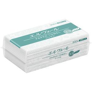 大王製紙 エルヴェール ペーパータオル エコドライ シングル 中判 200枚 1パック|tanomail