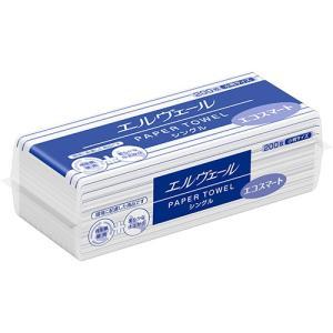 大王製紙 エルヴェール ペーパータオル エコスマート シングル 小判 200枚 1パック|tanomail