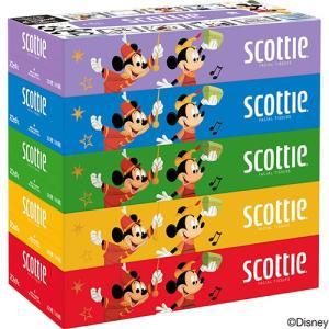 日本製紙クレシア スコッティ ティシュー ディズニー 160組/箱 1パック(5箱)