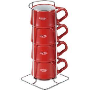 ダンスク コベンスタイル コーヒーカップ4pcs チリレッド 1セット|tanomail