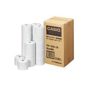 カシオ 電子レジスター用 ロールペーパー 紙幅58mm 感熱紙タイプ TRP−5880−TW 1パック(20個)|tanomail