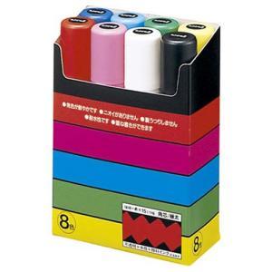 三菱鉛筆 水性マーカー ポスカ 極太角芯 8色...の関連商品3