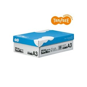 TANOSEE PPC用紙 SNOW WHITE A3 1箱(1500枚:500枚×3冊)|tanomail