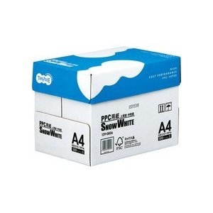 TANOSEE PPC用紙 SNOW WHITE A4 1箱(2500枚:500枚×5冊)|tanomail