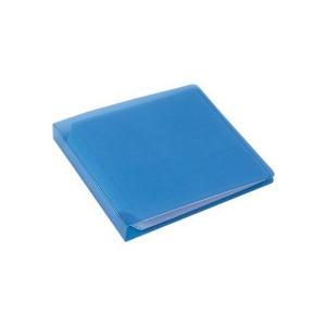 サンワサプライ ファイル型CDケース 12枚収納 ブルー FCD−1211BL 1個