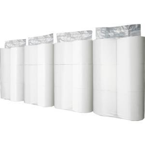 TANOSEE トイレットペーパー パック包装 シングル 芯なし 170m 1ケース(24ロール:6ロール×4パック)|tanomail