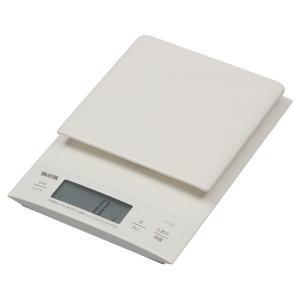 タニタ デジタルクッキングスケール 3kg ホワイト KD−320−WH 1台