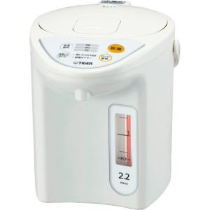 タイガー魔法瓶 マイコン電動ポット 2.2L ホワイト PDR−G221W 1台|tanomail