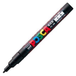 三菱鉛筆 水性マーカー ポスカ 細字丸芯 黒 PC3M.24 1本