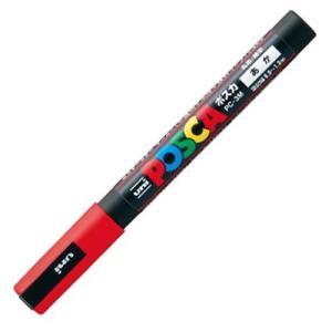 三菱鉛筆 水性マーカー ポスカ 細字丸芯 赤 PC3M.15 1本
