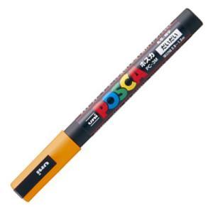 三菱鉛筆 水性マーカー ポスカ 細字丸芯 橙 PC3M.4 1本