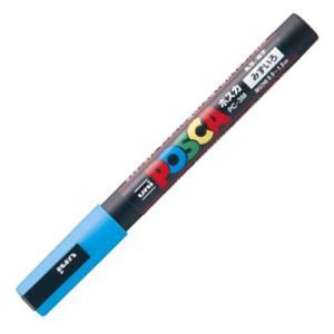三菱鉛筆 水性マーカー ポスカ 細字丸芯 水色 PC3M.8 1本