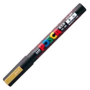 三菱鉛筆 水性マーカー ポスカ 細字丸芯 金 PC3M.25 1本