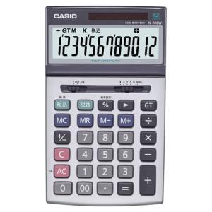 カシオ 本格実務電卓 12桁 ジャストサイズ JS−200W−N 1台|tanomail