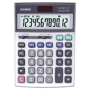 カシオ 本格実務電卓 12桁 DS−12WT−N 1台