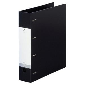 リヒトラブ リクエスト D型リングファイル A4タテ 4穴 500枚収容 背幅64mm 黒 G1280−24 1冊|tanomail