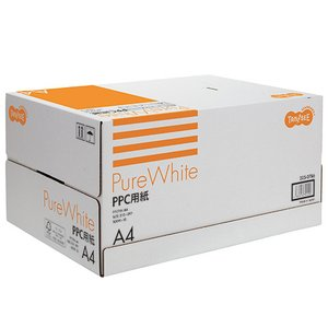 TANOSEE PPC用紙 Pure White A4 1箱(5000枚:500枚×10冊)|tanomail