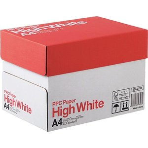 PPC PAPER High White A4 1箱(2500枚:500枚×5冊)|tanomail