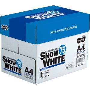 TANOSEE PPC用紙 SNOW WHITE 75 A4 1箱(2500枚:500枚×5冊)|tanomail