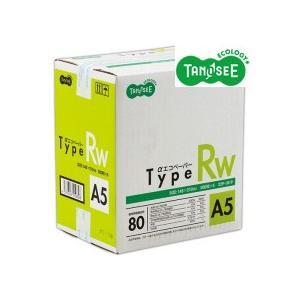 TANOSEE αエコペーパー タイプRW A5 1箱(2500枚:500枚×5冊)|tanomail