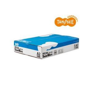 TANOSEE PPC用紙 SNOW WHITE A2 1箱(1000枚:500枚×2冊) tanomail