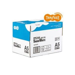 TANOSEE PPC用紙 SNOW WHITE A5 1箱(5000枚:500枚×10冊) tanomail