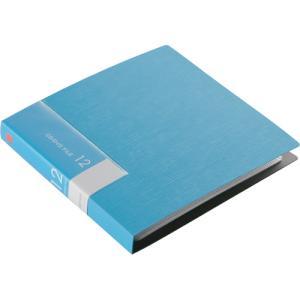 バッファロー CD&DVDファイルケース ブックタイプ 12枚収納 ブルー BSCD01F12BL 1個